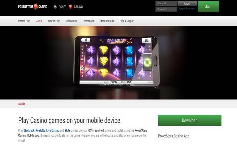 Мобильное казино покер старс тактика казино 4 дракона самп