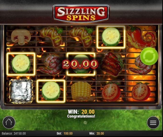 Видео слот Sizzling Spins от разработчика игр Play'N Go
